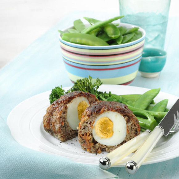Mini Meatloaf With Hardboiled Egg