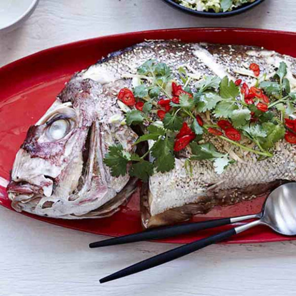oven baked snapper with asian flavours recipe myfoodbook