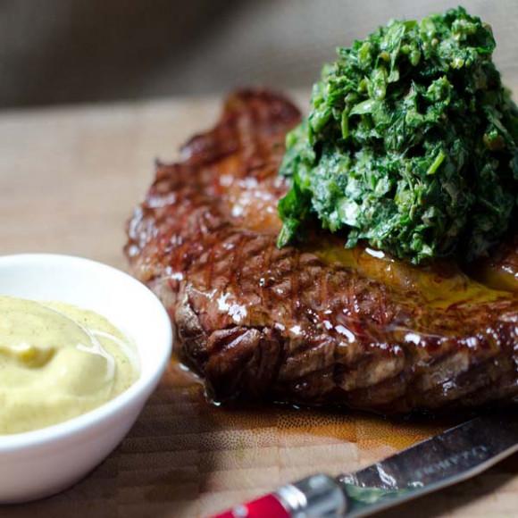Steak with Salsa Verde