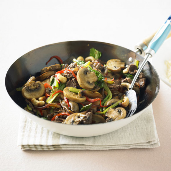 Mushroom, Beef & Cashew Stir-fry