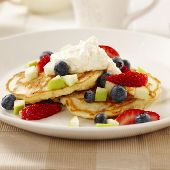 Apple, Lemon and Ricotta Pancakes