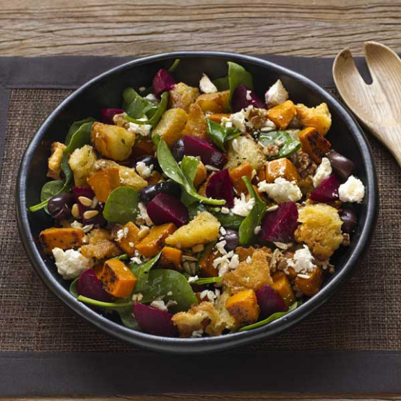 Beetroot, Pumpkin and Fetta Salad