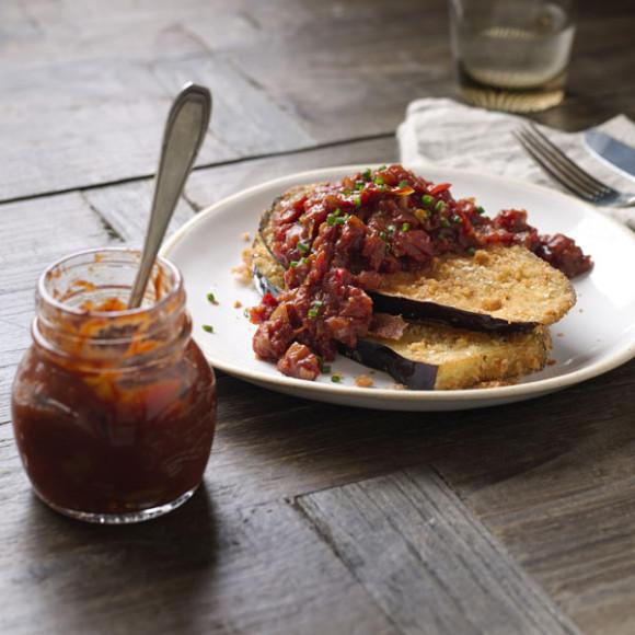 Eggplant with Chilli Tomato Jam