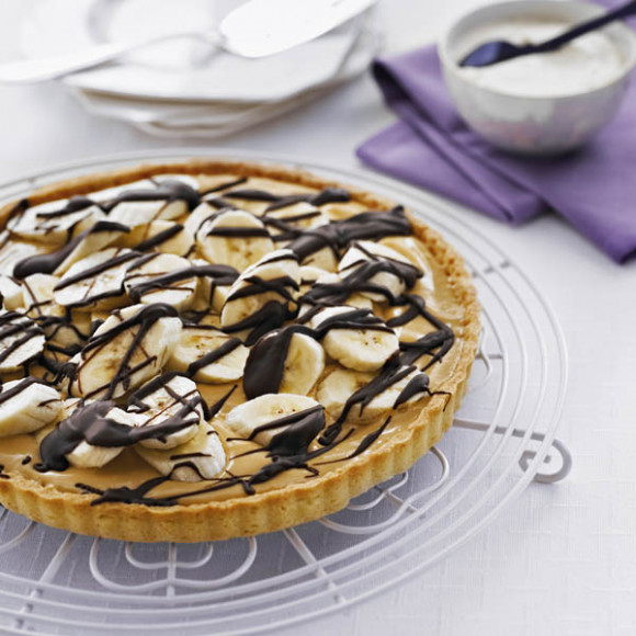 Dark Chocolate Banoffee Tart