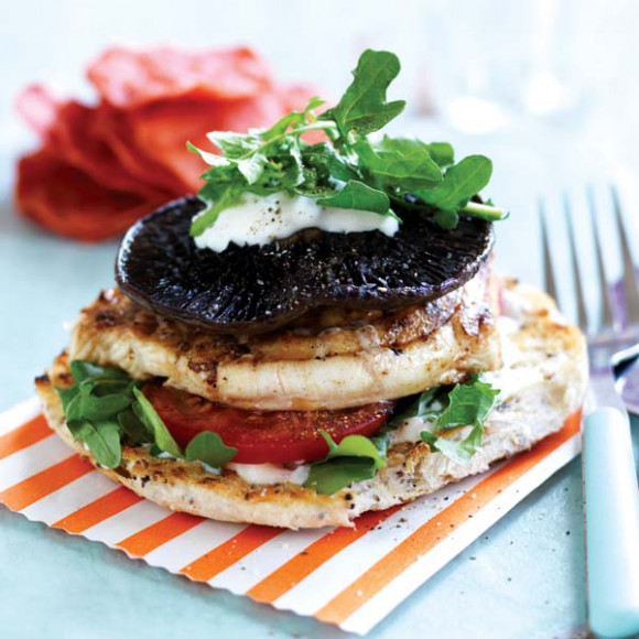 Barbecued mushroom fish burger recipe myfoodbook make for Fish burger recipe