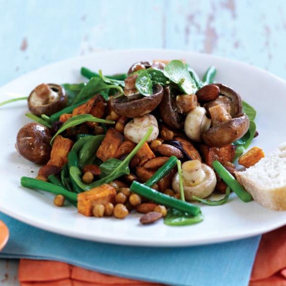 Mushroom, Sweet Potato & Chickpea Salad