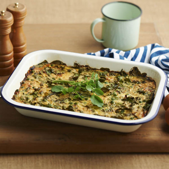Watercress and fresh pea frittata