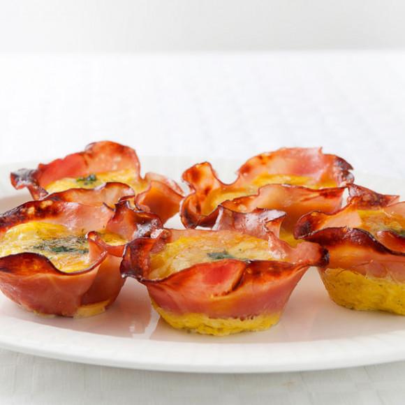 Ham & Chive Quiches