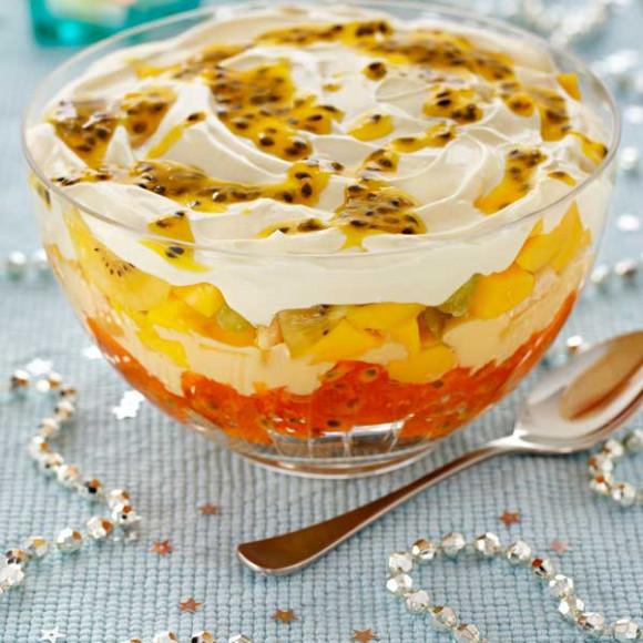 Mango and Passionfruit Trifle