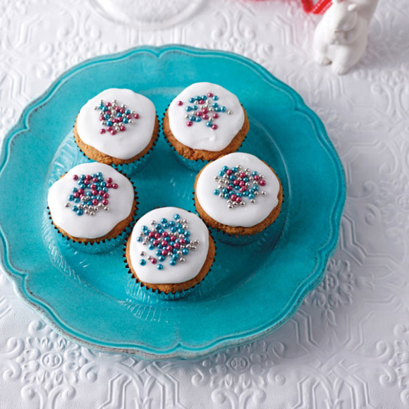 Gluten Free Ginger & Carrot Cupcakes with Lemon Icing