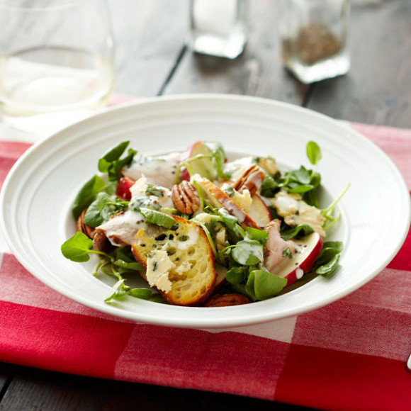 Roast Pork, Apple, Blue Cheese and Watercress Salad