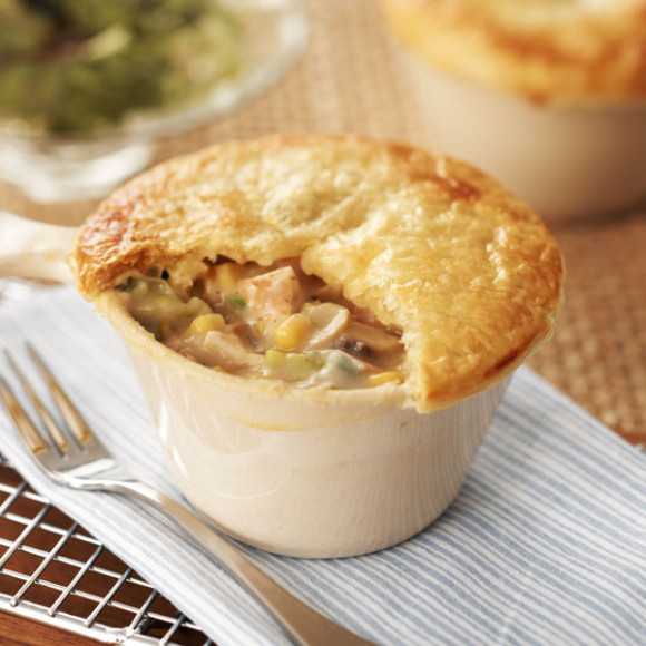 Chicken, Leek and Mushroom Pot Pie Recipe