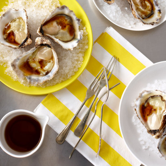 Oysters with Soy and Lime Dressing