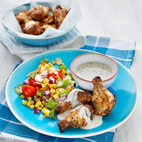 Cajun Fried Chicken with Charred Corn & Tomato Salsa Recipe ...