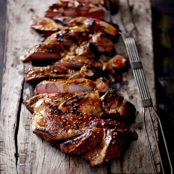 Barbecued Butterflied Leg of Lamb with Asian Flavours ...