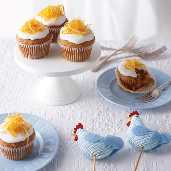 Gluten Free Ginger & Carrot Easter Cupcakes