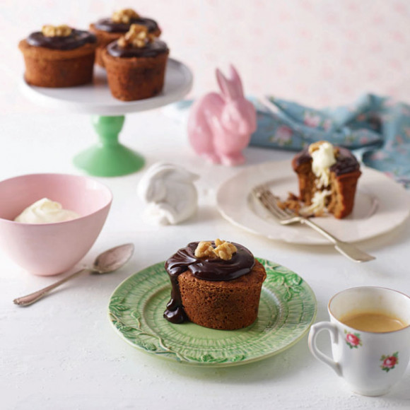 Mini Date, Chocolate & Walnut Easter Cake
