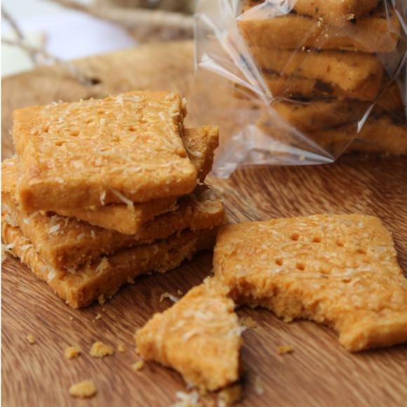 Cheesy smoked paprika short bread