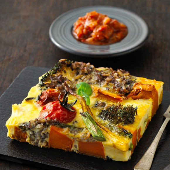 Roasted Vegetable & Rice Frittata