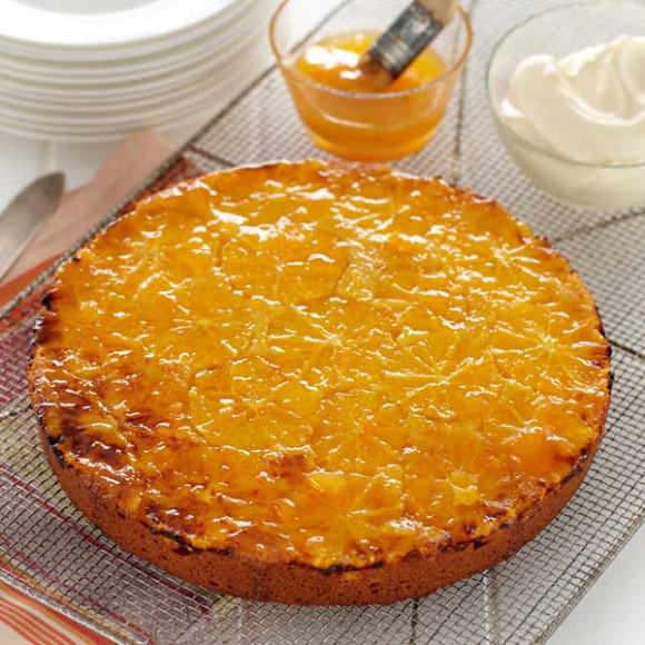 Glazed Orange Polenta Cake
