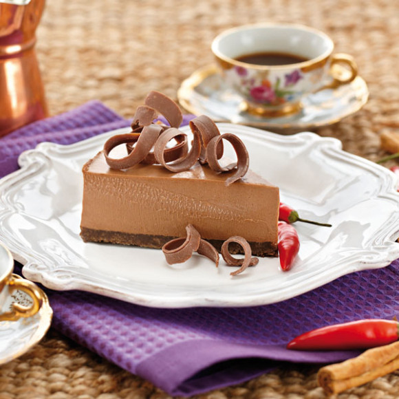 Chocolate Chilli Cheesecake Recipe | myfoodbook | Make a ...