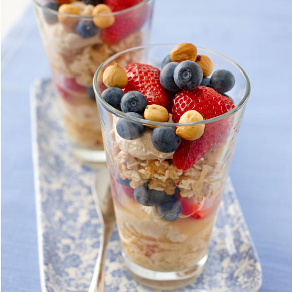 Berry Layered Bircher Muesli