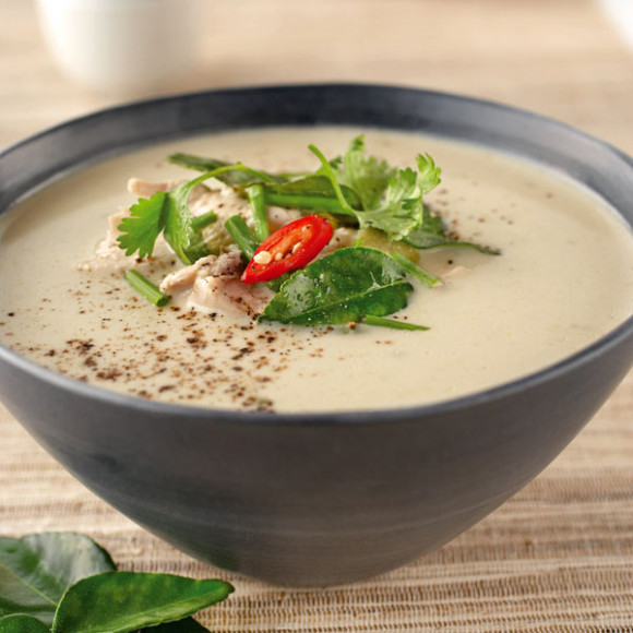 Thai-Style Coconut Chicken Soup Recipe — Dishmaps