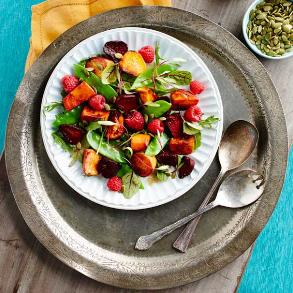 Roasted Sweet Potato and Beet Salad Recipe | myfoodbook