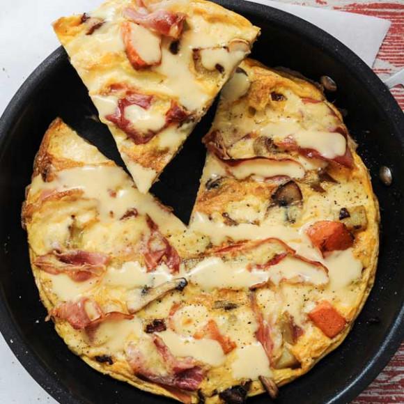 Breakfast Frittata with Hollandaise Sauce