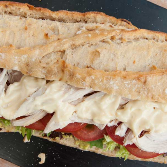 Chicken Salad Baguette with whole Egg Mayonnaise