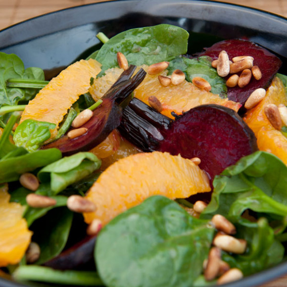 Roasted Beetroot and Orange Salad with French Vinaigrette
