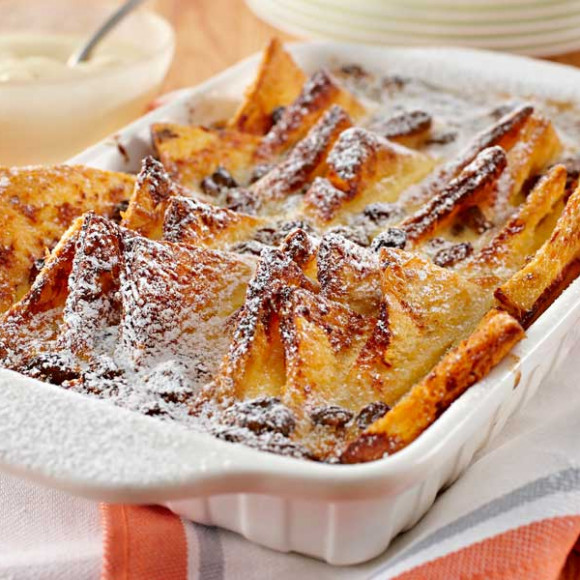 Rum Raisin Bread and Butter Pudding