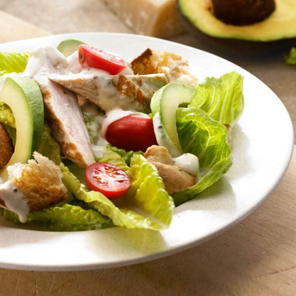 Chicken and Garlic Ciabatta Salad