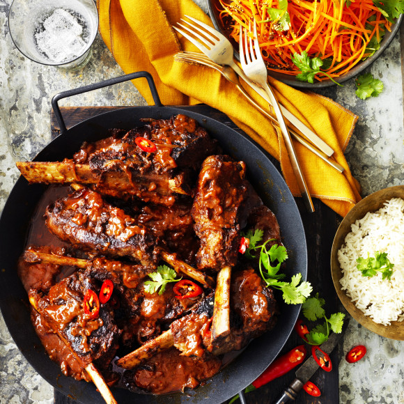 Slow cooked Beef Short Ribs vindaloo Recipe | myfoodbook