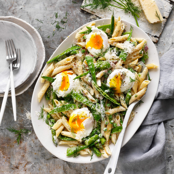Pasta Primavera recipe with eggs