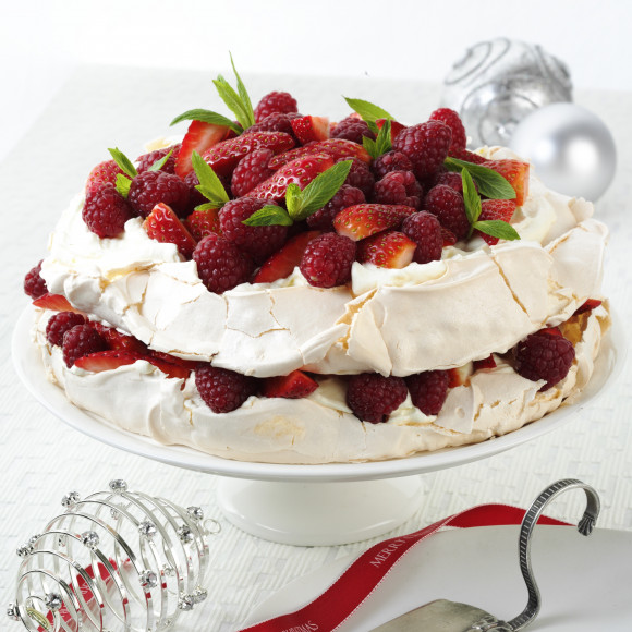 Aussie Pavlova Layer Cake with Red Berries