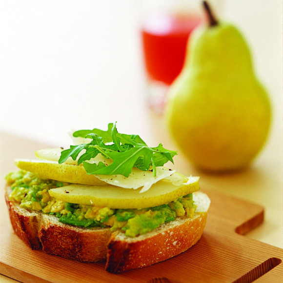 Pear, Avocado and Rocket Open Sandwiches