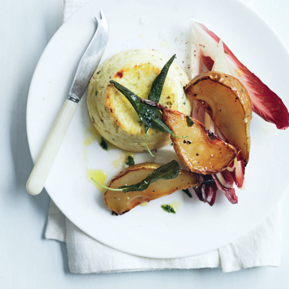 Baked Ricotta with Balsamic-Roasted Pears