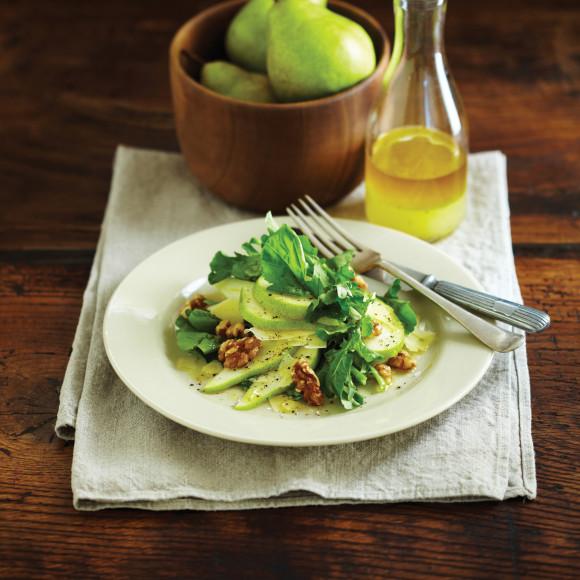 Rocket Salad with Parmesan, Pear and Lemon Dressing