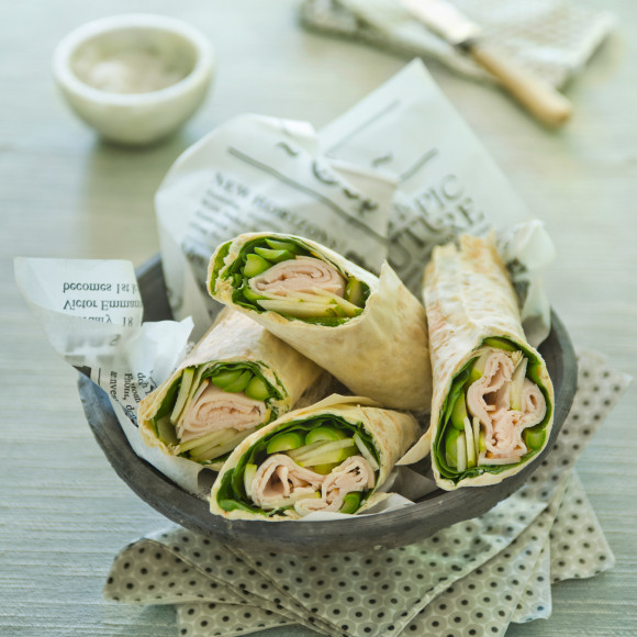 Pear and Smoked Chicken Wraps