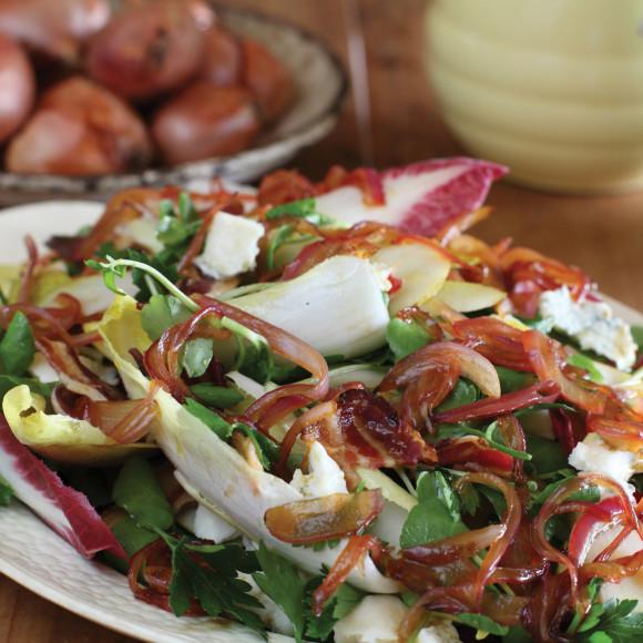 Raw Pear and Pancetta Salad