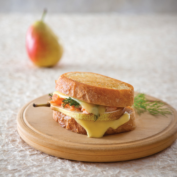 Pear, Smoked Trout and Dill Croque Monsieur