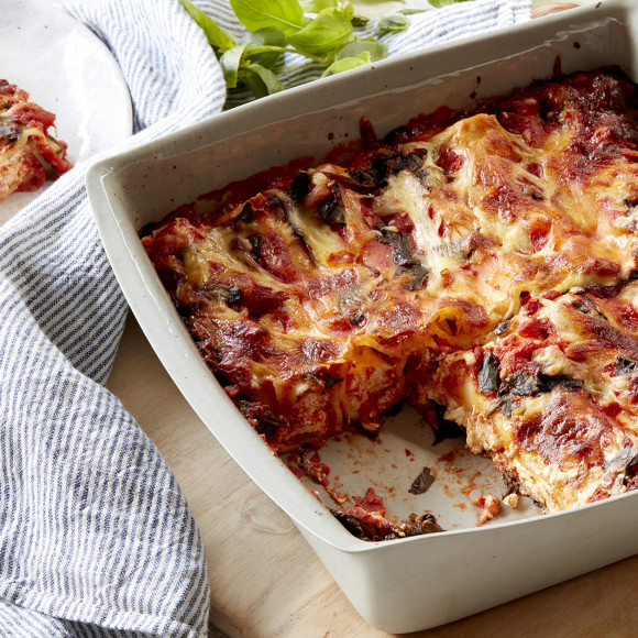 Ricotta, Lemon and Mozzarella Cannelloni Bake
