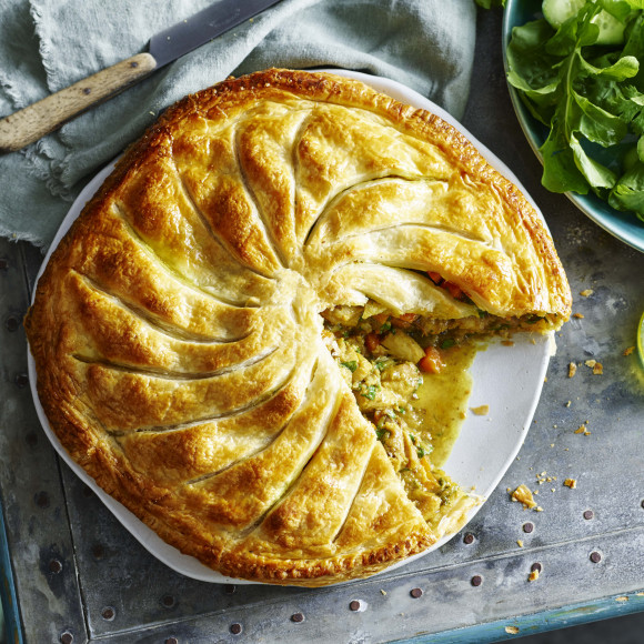 Rustic Moroccan Chicken Pie