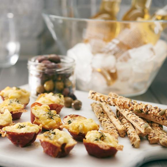 Crunchy Potato Salami Cups