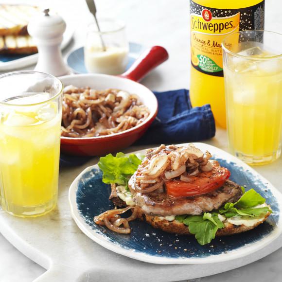 Steak, Tomato and Sweet Onion Open Sandwiches