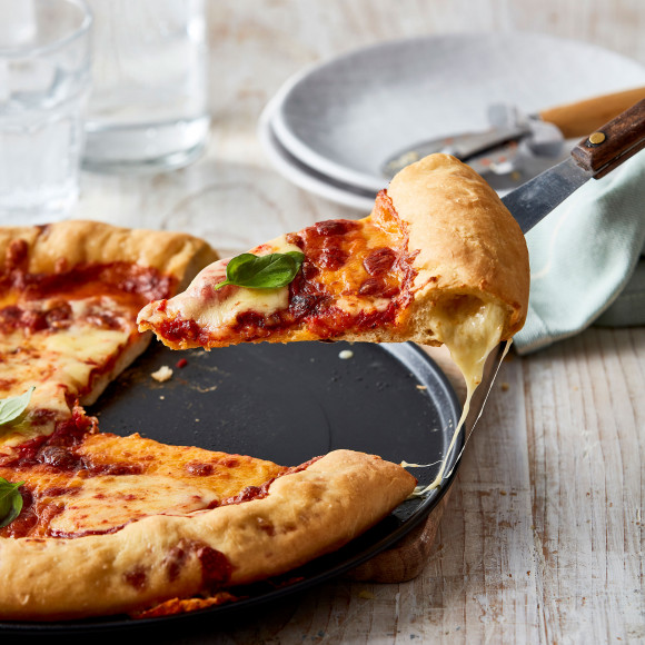 Stuffed crust pizza recipe
