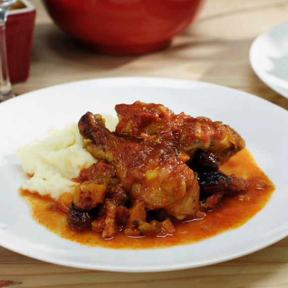 Slow Cooked Chicken with Olives and Pancetta