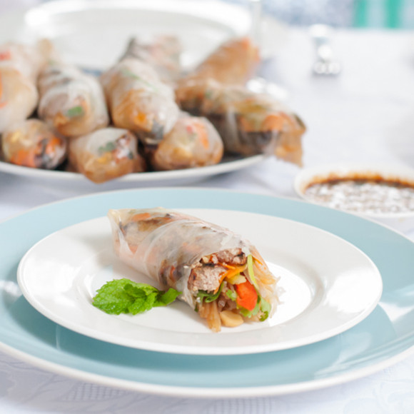 Lemongrass Turkey Rice Paper Rolls