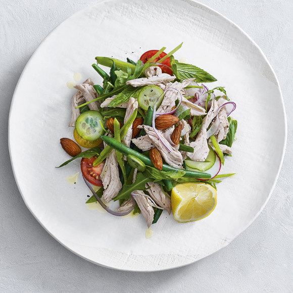 This delicious Shredded/Pulled Turkey Breast Salad is a great idea for serving to guests for lunch or enjoy this salad as a light family dinner.